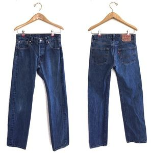 Levi's 501 Button Fly Straight Leg Jeans size 30